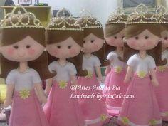 Princesas para centro de mesa de festa de aniversário.