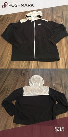 Nike SB Zip Up Hoodie Black and White Nike SB Hoodie. Zips up the middle and has zipper pockets. Nike Jackets & Coats Lightweight & Shirt Jackets