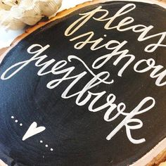 Wedding Chalkboard Sign // Sign our Guestbook by ChalkFullofLove
