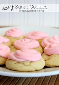 Soft, delicious sugar cookies made in 10 minutes or less!