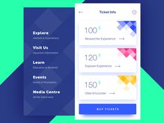 Ticket Info by Vladimir Gruev #Design Popular #Dribbble #shots