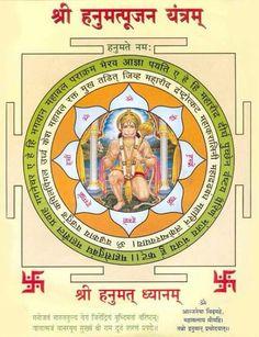 Hanuman Yantra Hanuman Chalisa Mantra, Hanuman Ji Wallpapers, Ram Hanuman, Tantra Art, Shri Yantra, Hanuman Images, Gayatri Mantra, Hindu Deities, Hinduism