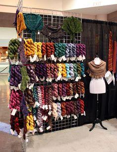 yarn display from Wabi Sabi yarns                                                                                                                                                     More
