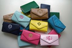 Smartphone Wristlet Wallets - fits any smart phone with two credit card slots and two zipper pouches to hold many other things.