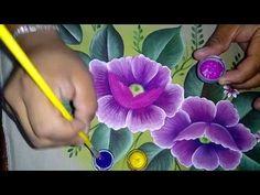 Tutorial de pintura textil. Pintando amapola. - YouTube