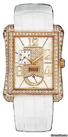 Piaget Black Tie Emperador Watch G0A31023 $30,030 #Piaget #watches #chronograph 18k Rose Gold Case -  White Mother of Pearl with Pave Diamonds Dial