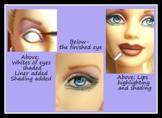 Learn How to Repaint Barbies and Fashion Doll Repainting... Loads of info on the supplies you need