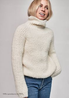 Høstgenser Thick Sweaters, Cute Sweaters, Jazz Pants, Pullover, Drops Design, Perfect Woman, Making Ideas, Mma, Knit Crochet