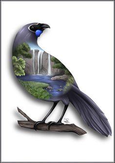 Maori Designs, New Zealand Art, Nz Art, Kiwiana, Birds Eye View, Unique Photo, Bird Prints, Painting For Kids, Embroidery Art