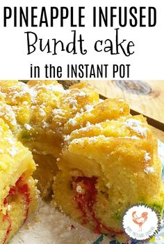 Pineapple Infused Mini Bundt Cake Made In the Pressure Cooker - Home Pressure Cooking Pressure Cooking Today, Apple Smoothies, Pressure Cooker Recipes, Savoury Cake, Mini Cakes, Clean Eating Snacks, Quick Easy Meals, How To Make Cake, Instant Pot