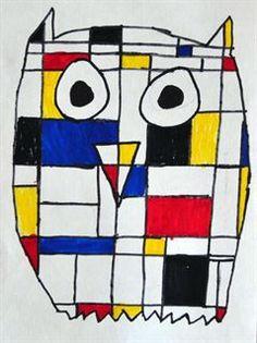 Draw an outline of an animal. Break the inside into Mondrian-like squares & rectangles. Place colors in ways that create a pleasing sense of balance! Piet Mondrian, 2nd Grade Art, Fourth Grade, Ecole Art, Kindergarten Art, Art Lessons Elementary, Art Abstrait, Art Lesson Plans, Art Classroom