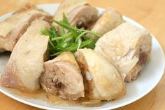 """Drunken chicken is a Shanghainese cold dish where chicken is steeped in rice wine, hence """"drunken chicken."""" This drunken chicken recipe is by Nook & Pantry. Easy Chinese Recipes, Easy Delicious Recipes, Asian Recipes, Yummy Food, Tasty, New Chicken Recipes, Pork Recipes, Cooking Recipes, Chicken Meals"""