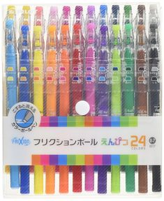 AmazonSmile: Pilot FriXion Pencil, 0.7mm Ballpoint Pen, 24 Colors Set, (LFP-312FN-24C): Office Products
