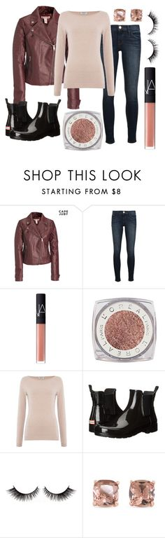 """Lauren & Dalton"" by taryn-scott ❤ liked on Polyvore featuring Aéropostale, Frame Denim, NARS Cosmetics, L'Oréal Paris, Repeat Cashmere, Hunter and Carolee"