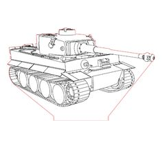 Tank Tiger 3d illusion lamp plan vector file for CNC - 3bee-studio