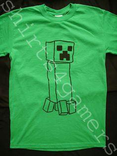 Minecraft Creeper T SHIRT (xbox 360 arcade live pc ps3 game lego mine craft) | eBay