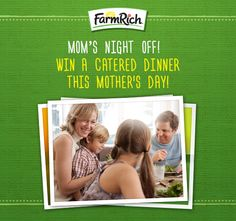 Mother's Day? How about Mother's Month?! Sit back and relax, because we're bringing dinner home to one lucky mom this month! Enter here for #MomsNightOff - you deserve it! https://www.facebook.com/FarmRichSnacks/app_1645286682363093 #MothersDay