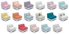 """simplistic-sims4: """" Cutie-Pie Kids Room Set Chair Here is the second item in the Cutie-Pie set. Colours and patterns coordinate throughout the entire set. I hope you enjoy! Requires Kids Room Download..."""