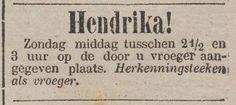 Herkenningsteeken als vroeger / 09-01-1883