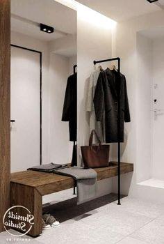 Small Entrance Halls, Modern Entrance Door, Home Entrance Decor, Home Decor, Home Office Design, House Design, Industrial Kitchen Design, Hallway Inspiration, Interior Architecture