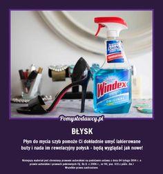 PROSTY TRIK NA PIĘKNIE BŁYSZCZĄCE LAKIEROWANE BUTY... Spray Bottle, Good To Know, Home Remedies, Cleaning Supplies, Life Hacks, Household, Projects To Try, Good Things, Tips