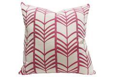 $95   Lauren 20x20 Linen Pillow, Pink