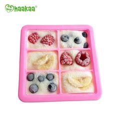 Pink Silicone Baby Freezer Trays