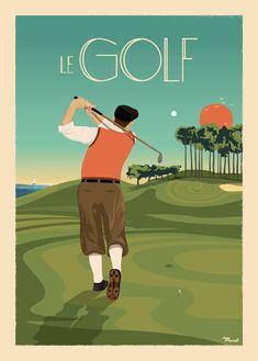 © Marcel LE GOLF www. Humour Golf, Golf Design, Golf Vintage, Marcel, Golf Painting, Golf Mk4, L Eucalyptus, Golf Photography, Golf Quotes