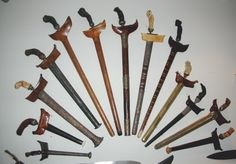 Mom and Dad have one of these, with a matching small shield. A drop of poison on the tip of the sword would kill an opponent instantly they say. Keris Sumatra