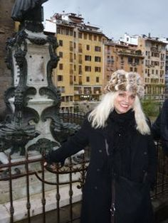 Uriél Dana in Florence, Italy. (fur is not real btw).