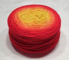 Gradient yarn pure cashmere yarn hand dyed by VioletLynxDyeworks