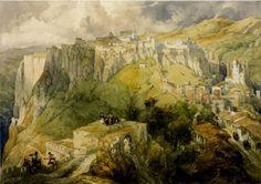DAVID ROBERTS : la ville de Ronda en Andalousie