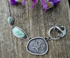 Anchoring necklace  American turquoise by louiseodwyerdesigns, $190.00