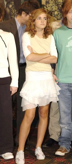 Emma Watson at 'Harry Potter and the Prisoner of Azkaban' London Photocall, 2004.