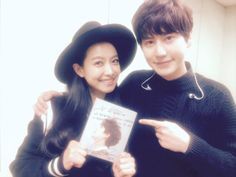 Kyuhyun twitter update - i love that Vic came to cheer him on!