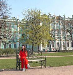 Outside Hermitage Museum Saint Petersburg Russia St Petersburg Russia, Saint Petersburg, Hermitage Museum, Saints, Louvre, City, Building, Travel, Viajes