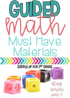Have you ever wondered what materials you need to get started with guided math? This post is full ideas from storage to math manipulative. Come check it out!