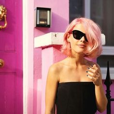 Pink bob #hair