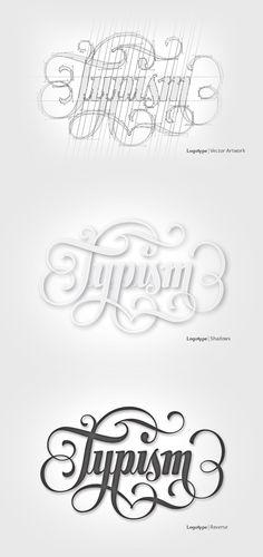 Typism | Logotype by Aurelie Maron, via Behance