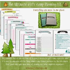 Ultimate Girl's Camp Planning Kit