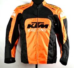 New KTM Orange Motorcycle Off Road Dirt Bike Riding Hump Armor Protective Jacket