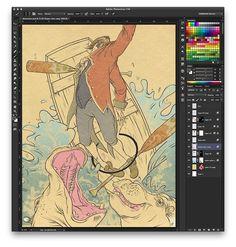 Color w/ Texture Using Photoshop