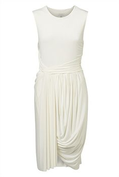 Sleeveless Jersey Drape Dress from witchery. Love this dress! Perfect for the holiday events coming up. Day Dresses, Dresses For Work, Formal Dresses For Women, Australian Fashion, Color Pop, White Dress, Style Inspiration, Clothes For Women, Elegant