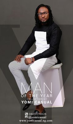 Yomi Casual Unveils Man Of The Year Collection Modeled By Celebs [Photos] Nigerian Men Fashion, African Print Fashion, Africa Fashion, African Prints, African Attire, African Wear, African Dress, African Shirts For Men, African Clothing For Men