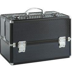 Makeup Case Box Hairdressing Cosmetic Vanity Space Make Up Beauty Large Black  #Vanity