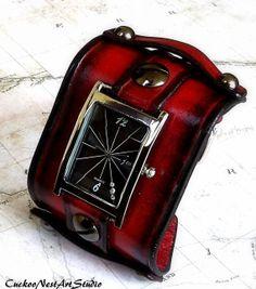 Womens Watch Wrist Watch Leather Watch by CuckooNestArtStudio, $84.00
