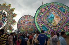 Barriletes gigantes -- Giant kites for Dia de los Muertos Guatemala