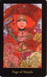 Page of Wands, Mary-el tarot