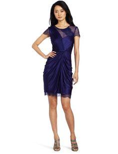 Bcbgmaxazria Women's Mercedes Knit Evening Dress, Orient Blue, Small