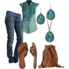 cool blues, created by kris-frye on Polyvore